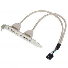 Кабель для передачи данных косичка (для системної плати), 2xUSB 2.0 Atcom (15257)