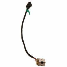 Разъем питания ноутбука с кабелем для HP PJ467, PJ551 (7.4mm x 5.0mm + center pin), универсальный (A49066)