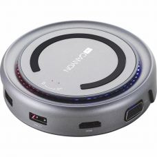 Порт-реплікатор CANYON Docking Station with 5 port, with wireless charger 10W, Inpu (CNS-TDS07DG)