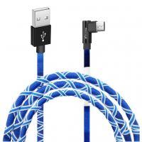Дата кабель USB 2.0 AM to Micro 5P 1.0m White/Blue Grand-X (FM-08WB)