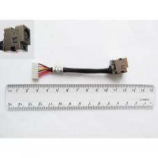 Разъем питания ноутбука с кабелем для HP PJ156 (7.4mm x 5.0mm + center pin), 6-pin, универсальный (A49040)
