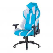 Кресло игровое Special4You ExtremeRace light blue/white (000004111)