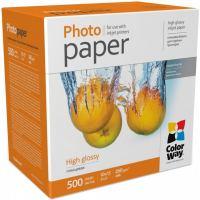 Бумага ColorWay 10x15, 260г, glossy, 500л, карт.уп. (PG2605004R)