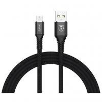 Дата кабель USB 2.0 AM to Micro 5P 2.0m Jagger T-M814 Black T-Phox (T-M814(2) black)
