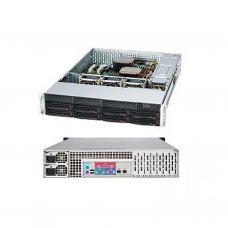 Корпус для сервера Supermicro 2U 8xHotSwap SAS/SATA, EE-ATX 800W HS RM Black (CSE-825TQC-R802LPB)