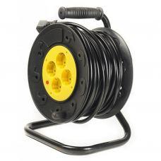 Сетевой удлинитель PowerPlant на катушке 30 м, 4 розетки (JY-2002/30) (PPRA10M300S4)