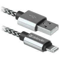 Дата кабель USB 2.0 AM to Lightning 1.0m ACH01-03T PRO White Defender (87809)