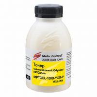 Тонер HP/Canon150г yellow фасовка Static Control (MPTCOL-150B-YOS-P)