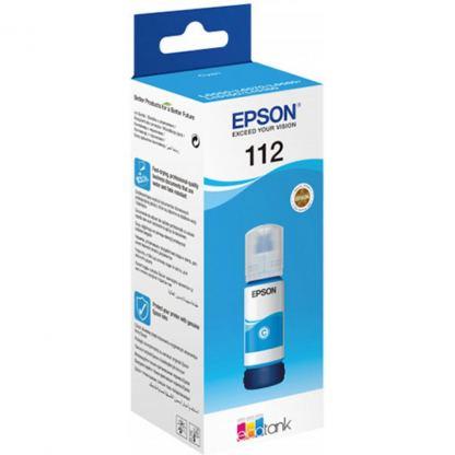 Контейнер с чернилами Epson 112 EcoTank Pigment Cyan ink (C13T06C24A)