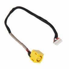 Разъем питания ноутбука с кабелем для Lenovo PJ572 (7.9mm x 5.5mm + center pin), 5-p универсальный (A49070)