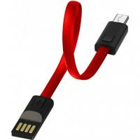 Дата кабель USB 2.0 AM to Micro 5P 0.22m red ColorWay (CW-CBUM022-RD)