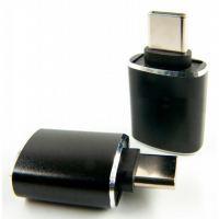 Переходник OTG USB - Type-C grey Dengos (ADP-018)