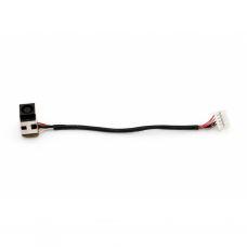 Разъем питания ноутбука с кабелем для HP PJ258 (7.4mm x 5.0mm + center pin), 10(9)-p универсальный (A49038)