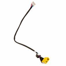 Разъем питания ноутбука с кабелем для Lenovo PJ585 (прямоугольный + center pin), 5-p универсальный (A49071)
