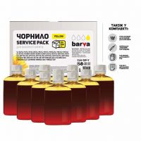 Чернила BARVA Canon/HP/Lexmark Universal №4 Yellow 10x100мл ServicePack (CU4-1SP-Y)