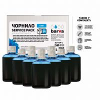 Чернила BARVA Epson Universal №1 Cyan 10x100мл ServicePack (EU1-1SP-C)