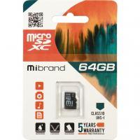 Карта памяти Mibrand 64GB microSDXC class 10 UHS-I (MICDXU1/64GB)