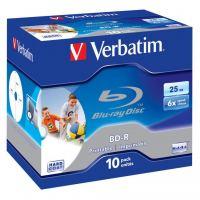 Диск BD Verbatim 25Gb 6x Jewel 10шт Printable (43713)