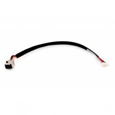 Разъем питания ноутбука с кабелем для HP PJ291 (7.4mm x 5.0mm + center pin), 4+3-pin универсальный (A49039)
