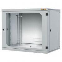 Шкаф настенный Conteg 9U 600x600 removable side panels RAL7035 (RUN-09-60/60)