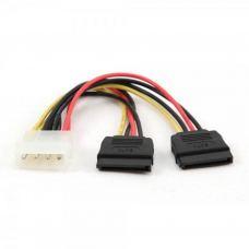 Кабель питания Molex to 2xSATA power 0.3m Cablexpert (CC-SATA-PSY-0.3M)